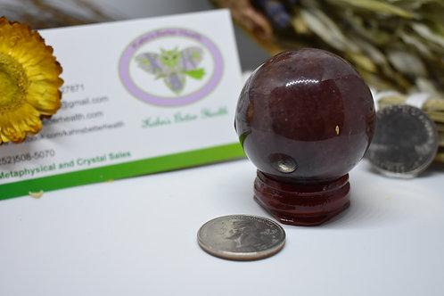 Strawberry Quartz Sphere, $15