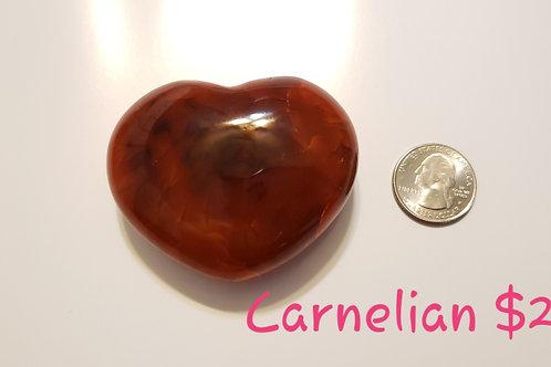 74 mm Carnelian Heart