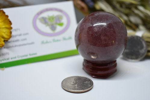 Strawberry Quartz Sphere, $18