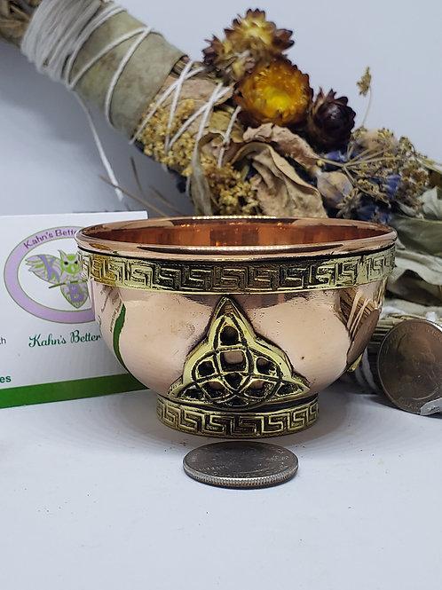 Triquetra copper bowl