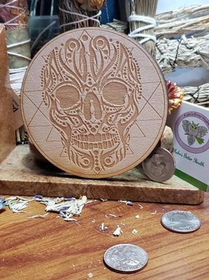 "Skull Sri Yantra 4"" Grid Board"