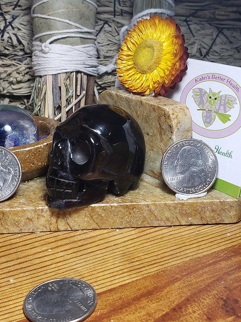 Smoky Agate Skull