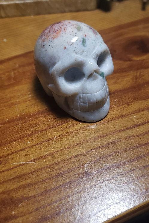 Cinnabrite Skull
