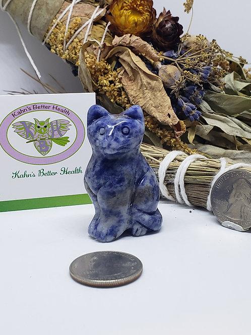 Sodalite Cat, $16