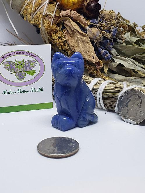 Blue Aventurine Cat, $16
