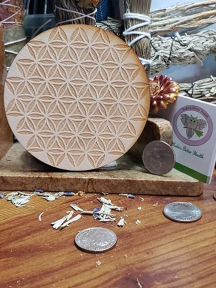 "Inverted Flower of Life 4"" Grid Board"