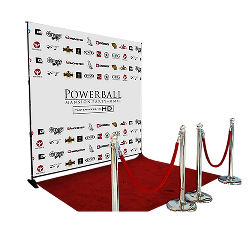 8ft x 8ft Step and Repeat Kit (Includes Stand)