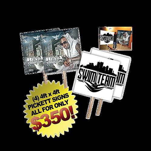 (4) 4ft x 4ft Jumbo CD Cover Picketts