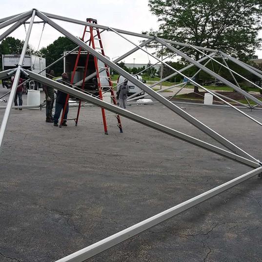 carol stream frame tent