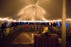 Wedding under the tent