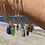 Thumbnail: Gold beachy sea glass bangle bracelets