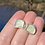 Thumbnail: Sea foam sea glass stud earrings