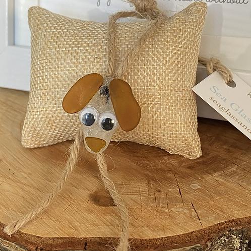 Sea glass dog ornament #12
