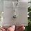 Thumbnail: Organic cobalt blue sea glass earrings