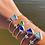 Thumbnail:  Heart sea glass bracelet