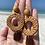 Thumbnail: Beachy bohemian brown sea glass earrings