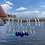 Thumbnail: Blue Recycled glass hoop earrings