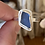 Thumbnail: Cornflower blue bezel ring