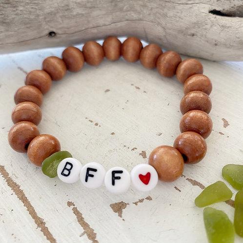 BFF ❤️ Sea glass word bracelets