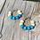 Thumbnail: Turquoise Wooden bead hoop earrings