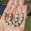Thumbnail: Boho Turquoise beaded earrings