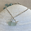 Thumbnail: Sea foam sea glass sterling silver starfish earrings