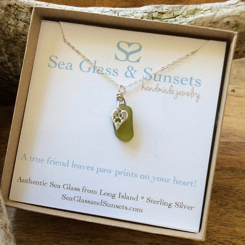 Peridot Sterling Silver Paw Necklace