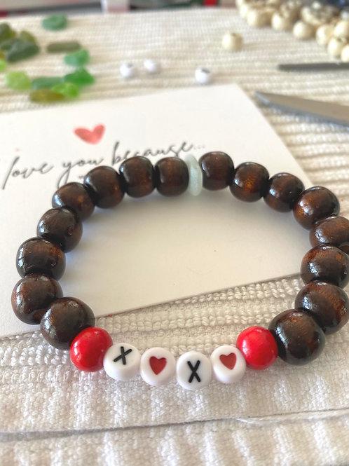 X❤️X❤️. Sea glass word bracelets