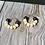 Thumbnail: Brown Wooden bead hoop earrings