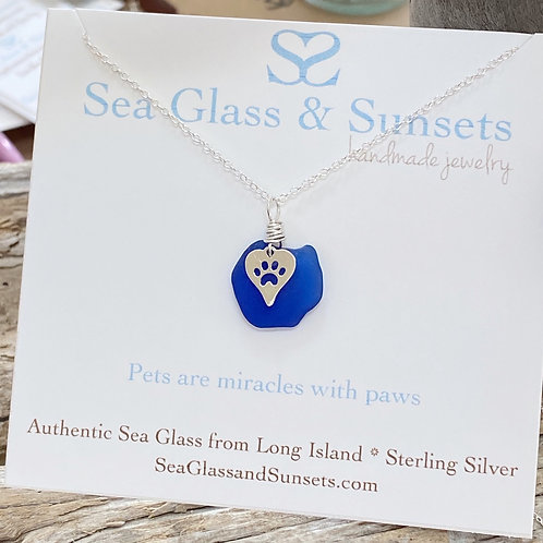 Authentic Long Island paw print necklace