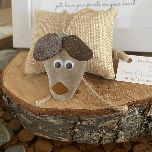 Sea glass dog ornament #5