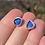 Thumbnail: Cobalt Blue sea glass stud earrings