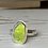 Thumbnail: Lime Green bezel ring