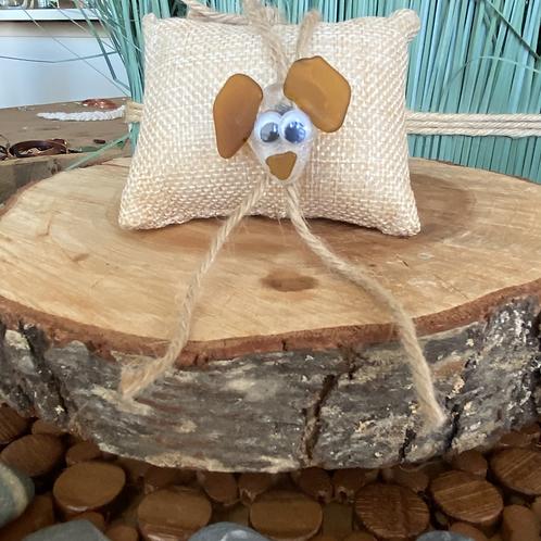 Sea glass dog ornament #10
