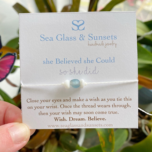 """ She Believed She Could"" Wish Bracelet"