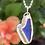 Thumbnail: Cobalt  blue sea glass heart necklace