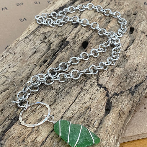 Chunky Costume Sea Glass Necklace