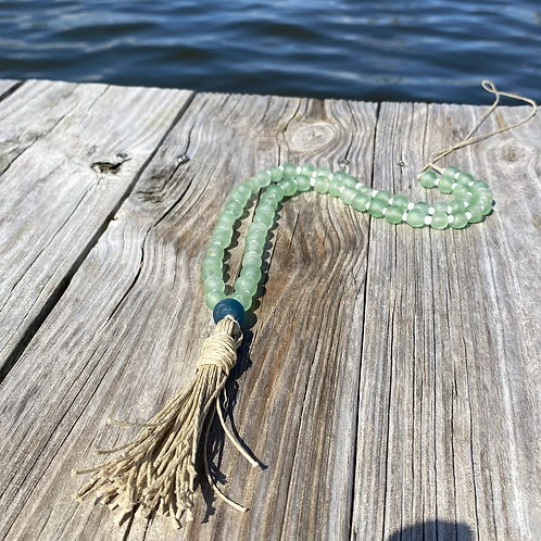 Recycled Glass Tassel Necklace