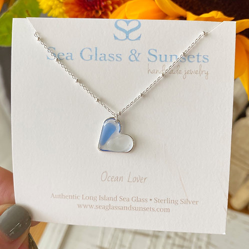 I found my heart at the beach necklace