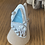 Thumbnail: Cyan blue sea glass bezel ring