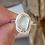 Thumbnail: Green sea foam bezel ring