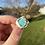 Thumbnail: Caribbean blue sea glass bezel ring