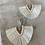 Thumbnail: Beachy bohemian light sea foam sea glass earrings
