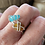 Thumbnail: Custom made Prong set turquoise sea glass ring