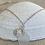 Thumbnail: Clear  sea glass sterling silver sand dollar  earrings