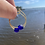 Thumbnail: Recycled glass bead hoop earrings