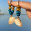 Thumbnail:  Beachy bohemian shell earrings