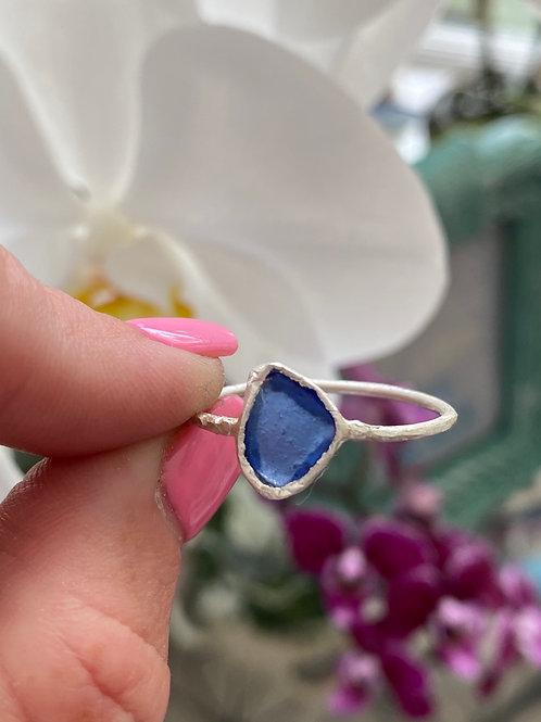 Mini cobalt bezel ring