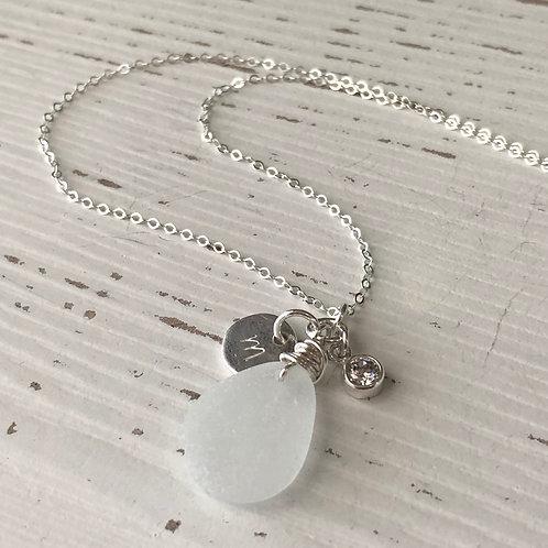 Birthstone Sea Glass Necklaces
