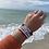 Thumbnail: Turquoise Sea glass word bracelets
